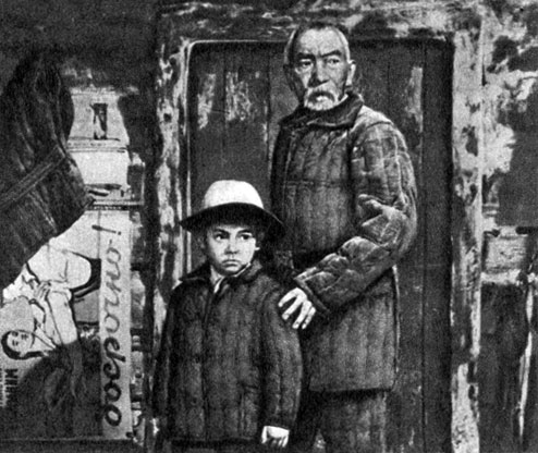 'Белый пароход'. Реж. Б. Т. Шамшиев. (Мальчик - Н. Сыдыгалиев, Момун - А. Куттубаев.) 1976