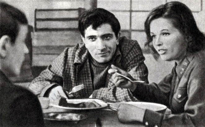 'Здравствуй, это я!'. Реж. Ф. Довлатян. (Артём - А. Джигарханян, Люся - Н. Фатеева.) 1966