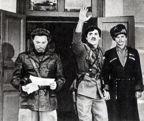 'Умри на коне'. Реж. Г. Мелик-Авакян. (В центре Гай - Г. Манукян.) 1980