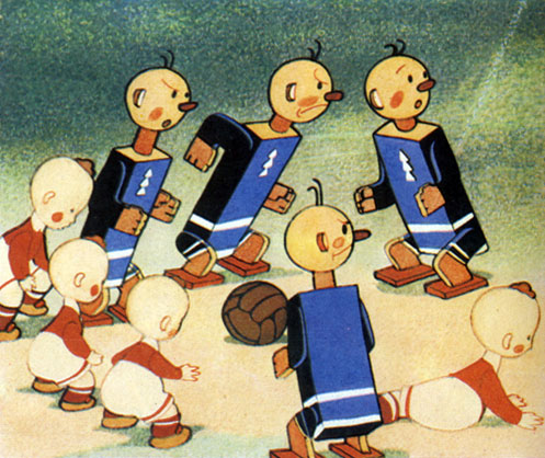 'Необыкновенный матч'. Реж. М. Пащенко, Б. Дёжкин, худ. П. Репкин, В. Василенко, А. Савченко. 1953