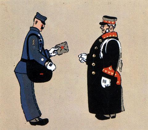 'Почта'. Реж. М. и В. Цехановские, худ. М. Цехановский, Б. Корнеев. 1964