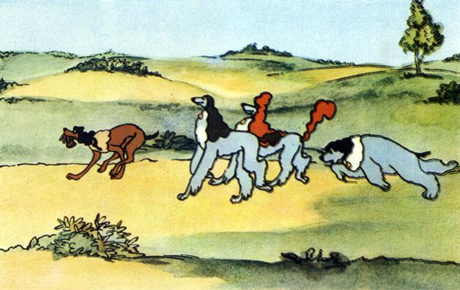 'Пёс в сапогах'. Реж. Е. Гамбург, худ. И. Макаров. 1981