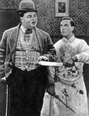 'Спокойной ночи, сестра'. Реж. Р. Арбэкль. (Актёры Р. Арбэкль и Б. Китон.) 1918