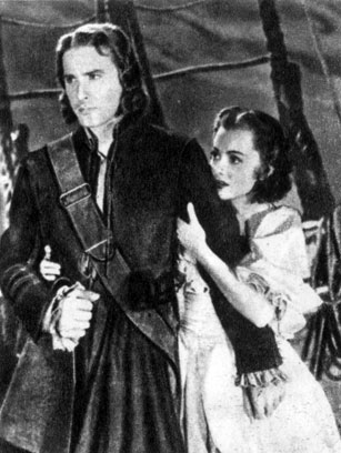 'Капитан Блад'. Реж. М. Кертиц. (Актёры О. де Хэвиленд и Э. Флинн.) 1935