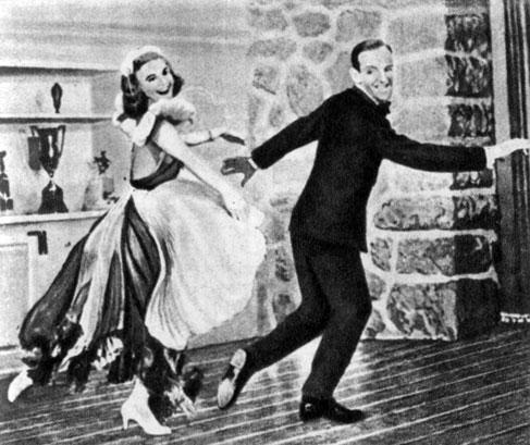 'Беззаботный'. Реж. М. Сэндрич. (Актёры Дж. Роджерс и Ф. Астер.) 1938