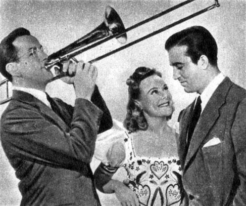 'Серенада солнечной долины'. Реж. Б. Хамперсон. (В центре - актриса С. Хени.) 1941