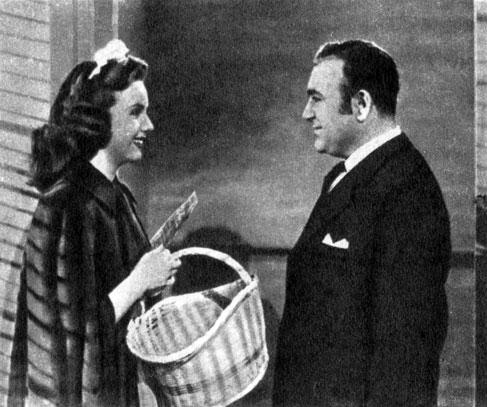'Сестра его дворецкого'. Реж. Ф. Борзедж. (Слева - актриса Д. Дурбин.) 1943