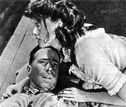 'Африканская королева'. Реж. Дж. Хьюстон. (Актёры X. Богарт и К. Хепберн.) 1952