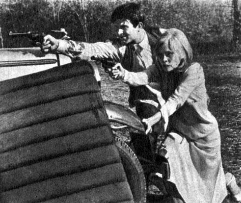 'Бонни и Клайд'. Реж. А. Пени. (Клайд - У. Битти, Бонни - Ф. Данауэй.) 1967