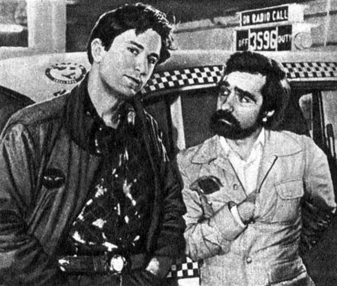 'Таксист'. Реж. М. Скорсезе. (Актёры Р. Де Ниро и М. Скорсезе.) 1976