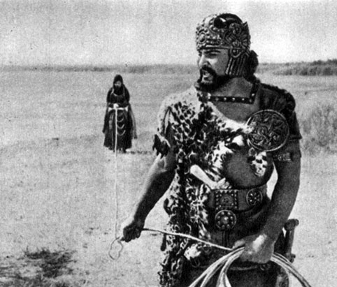 'Сказание о Рустаме'. Реж. Б. Кимягаров. (Рустам - Б. Ватаев.) 1971
