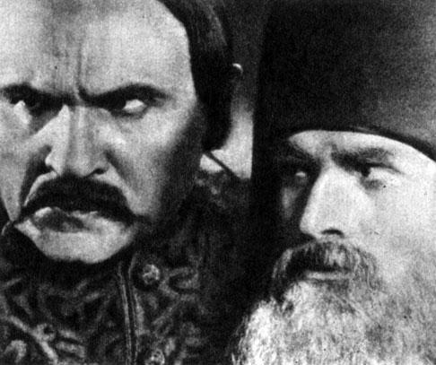 'Колиивщина'. Реж. И. Кавалеридзе. (Иван Гонта - А. Марьяненко, Дионисий - Н. Надемский.) 1933