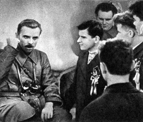 'Щорс'. Реж. Л. Довженко. (Щорс - Е. Самойлов.) 1939