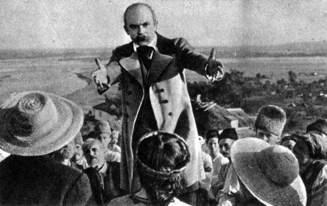 'Тарас Шевченко'. Реж. И. Савченко. (Тарас Шевченко - С. Бондарчук.) 1951