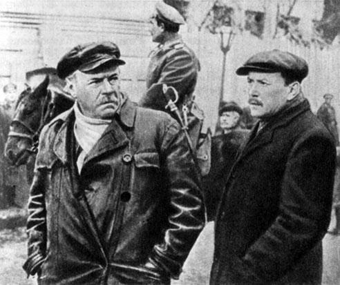 'Киевлянка'. Реж. Т. Левчук. (Матвей Степанович - К. Скоробогатов, Яков Петрович - Б. Чирков.) 1958-59