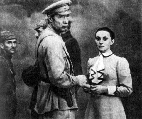 'Комиссары'. Реж. Н. Мащенко. (Актёры Н. Гринько, Л. Кадочникова.) 1971