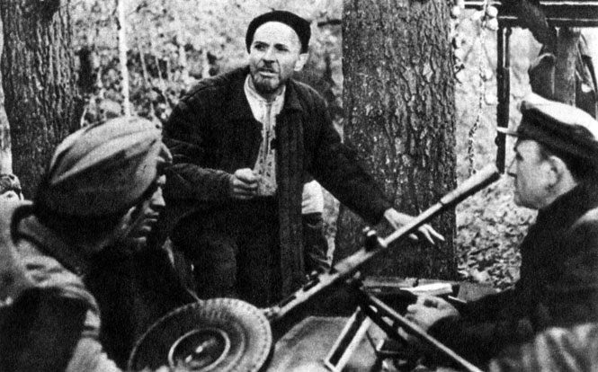 'Дума о Ковпаке'. ('Набат'). Реж. Т. Левчук. (Ковпак - К. Степанков.) 1976