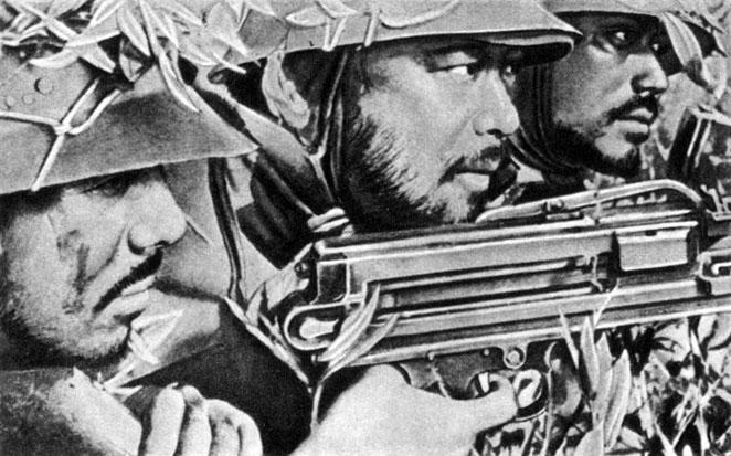 'Пять разведчиков'. Реж. Т. Тасака. 1938